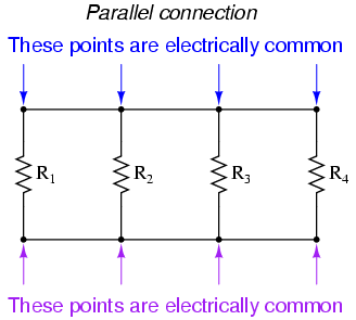 what are u201cseries u201d and u201cparallel u201d circuits series and parallel rh allaboutcircuits com Series Circuit and Parallel Circuit Parallel Circuit