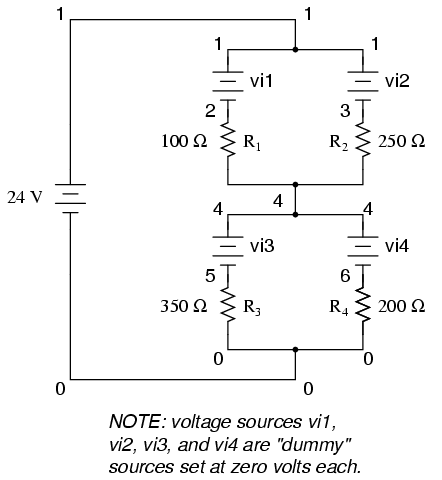 analysis techniques for series parallel resistor circuits series Parallel Circuit Diagram series parallel circuit v1 1 0 vi1 1 2 dc 0 vi2 1 3 dc 0 r1 2 4 100 r2 3 4 250 vi3 4 5 dc 0 vi4 4 6 dc