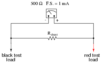 ammeter design dc metering circuits electronics textbook from our given values of movement current movement resistance and total circuit measured current we can determine the voltage across the meter movement
