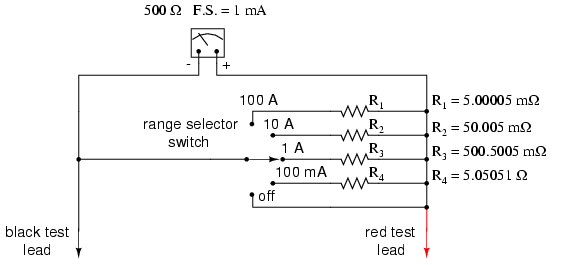 5.00005 m? is 5.00005 milli-ohms or 0.00500005 ohms! To achieve these low resistances ammeter shunt resistors often have to be custom-made from relatively ...  sc 1 st  All About Circuits : ammeter gauge wiring - yogabreezes.com