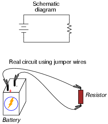 building simple resistor circuits series and parallel circuits rh allaboutcircuits com resistor schematic diagram braking resistor circuit diagram