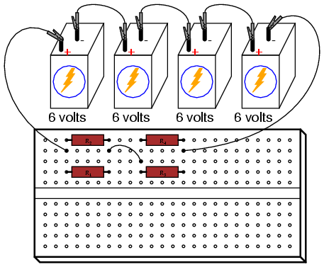building series parallel resistor circuits series parallel