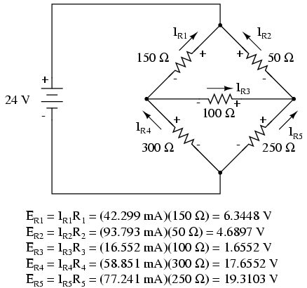 Mesh current method dc network analysis electronics textbook a spice simulation confirms the accuracy of our voltage calculationsspi ccuart Choice Image