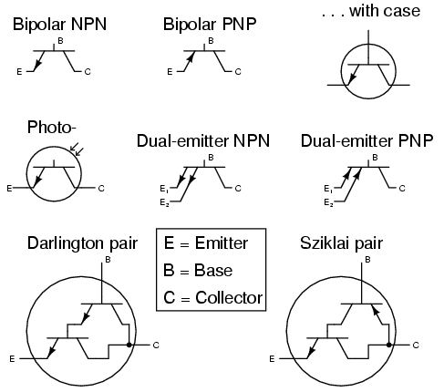 Transistors, Bipolar | Circuit Schematic Symbols | Electronics Textbook