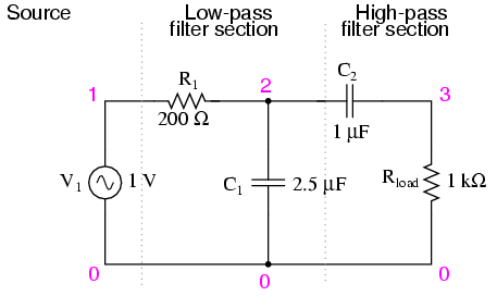 band pass filters filters electronics textbook rh allaboutcircuits com wide band pass filter circuit diagram band pass filter schematic diagram