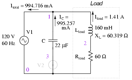 Calculating Power Factor on complex diagram