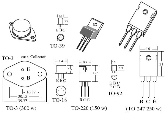 transistor ratings and packages  bjt
