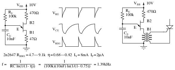 Ujt Circuit Diagram | The Unijunction Transistor Ujt Thyristors Electronics Textbook
