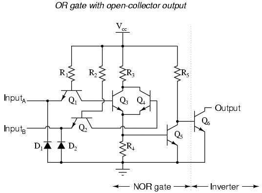 Ttl Nor And Or Gates Logic Gates Electronics Textbook