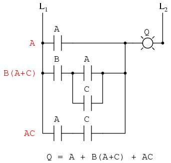 circuit diagram to boolean expression circuit diagram of inverter 12v to 230v circuit simplification examples | boolean algebra ...