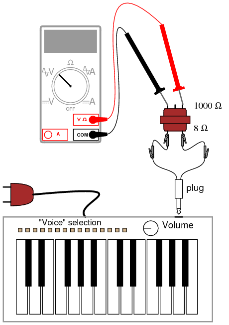 Musical Keyboard as a Signal Generator | AC Circuits | Electronics on keyboard cable, 6 pin connector diagram, keyboard schematic diagram, keyboard repair, operation wolf arcade game wire diagram, keyboard help, keyboard outline drawing, blank computer keyboard diagram, ps2 rear diagram, keyboard key diagram, keyboard parts diagram, keyboard heater, keyboard to usb diagram, keyboard color diagram,
