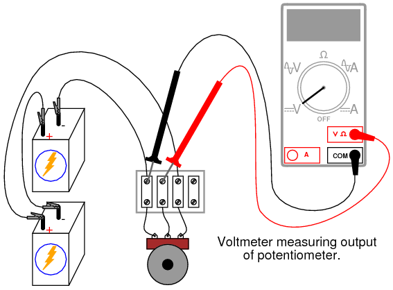 philmore potentiometer wiring diagram philmore potentiometer as a voltage divider dc circuits electronics
