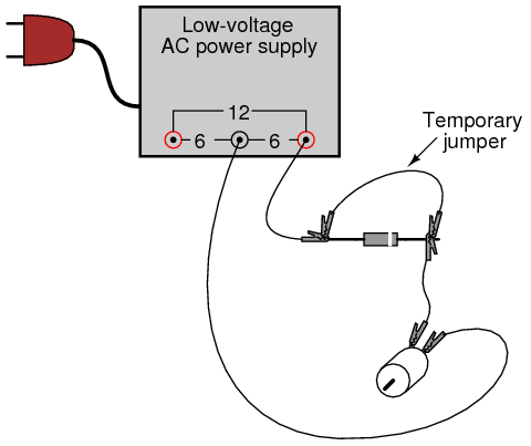 remove the temporary jumper wire and reverse the diode's orientation in the  circuit  note the effect on the