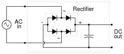 rectifier filter circuit discrete semiconductor circuits illustration