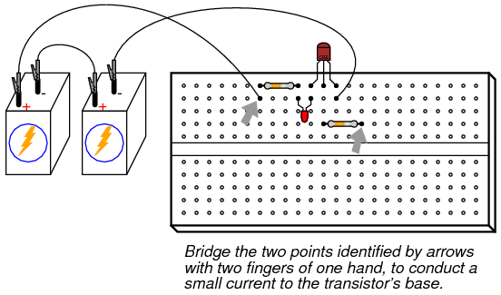 transistor as a switch | discrete semiconductor circuits, Wiring circuit