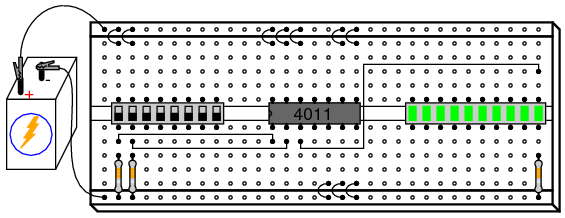 an experiment on connecting different integrated circuits on a breadboard and measure logic gates How to use a breadboard a learnsparkfuncom  such as integrated circuits  to connect all kinds of different power sources to your breadboard.