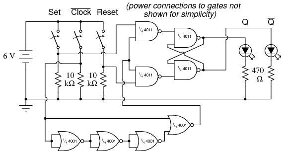 NAND Gate SR FlipFlop Digital Integrated Circuits