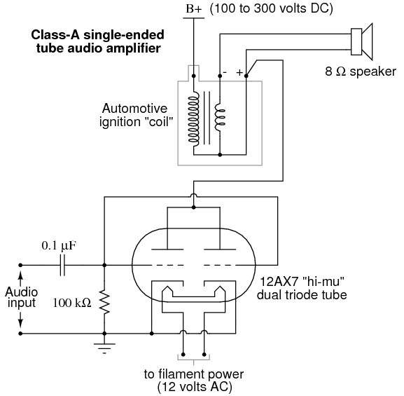 Vacuum Tube Audio Amplifier | Discrete Semiconductor Circuits ... on vacuum tube schematic diagram, vacuum cleaner wiring diagram, vacuum pump wiring diagram, vacuum tube heater diagram, t8 tube wiring diagram,