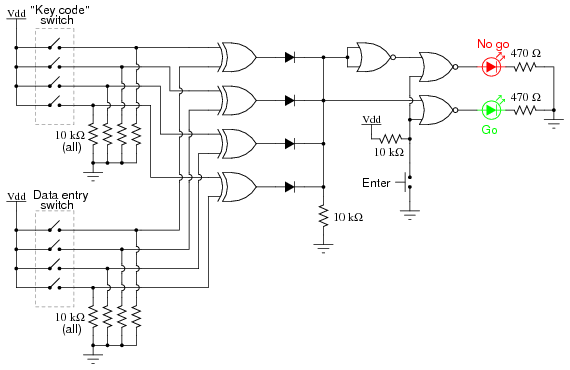 simple combination lock   digital integrated circuits    chapter    digital integrated circuits