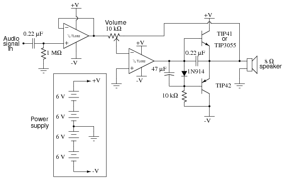 class b audio amplifier analog integrated circuits electronics class b audio amplifier