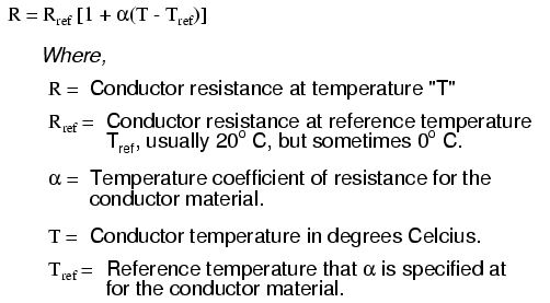 Temperature coefficient of copper the generic forumla for temperature affects on resistance is as follows greentooth Images
