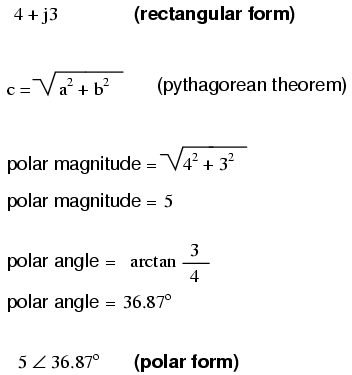 Polar and Rectangular Notation | Complex Numbers | Electronics ...