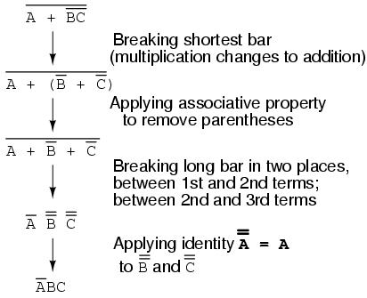 DeMorgan's Theorems | Boolean Algebra | Electronics Textbook