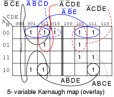 r 5 & 6 variable Karnaugh Maps