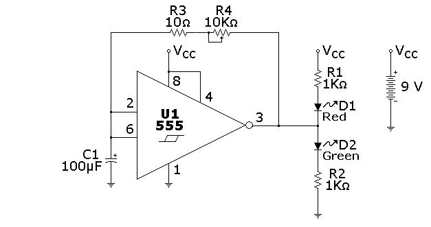 555 hysteretic oscillator