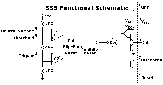 555 monostable multivibrator