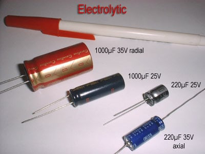 Practical considerations capacitors capacitors electronics the electrolytic and tantalum capacitors are polarized polarity sensitive and are always labeled as such the electrolytic units have their negative keyboard keysfo Images
