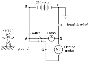 electric shock | basic electricity worksheets, Circuit diagram