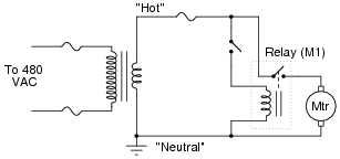 ac motor control circuits   ac electric circuits worksheetsbased on your observations of these two diagrams  explain how electromechanical relays are represented differently between ladder and schematic diagrams
