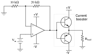 inverting and noninverting opamp voltage amplifier circuits analog rh allaboutcircuits com simple voltage amplifier circuit diagram low voltage amplifier circuit diagram