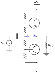 circuit diagram of class a amplifier the wiring diagram class b bjt amplifiers discrete semiconductor devices and circuit diagram