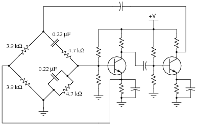 oscillator circuits discrete semiconductor devices and circuits rh allaboutcircuits com transistor oscillator circuit diagram clapp oscillator circuit diagram