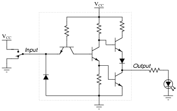 ttl logic gates digital circuits worksheets rh allaboutcircuits com ttl to rs232 converter circuit diagram ttl to rs232 converter circuit diagram
