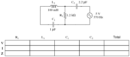 series parallel combination ac circuits ac electric circuits worksheets. Black Bedroom Furniture Sets. Home Design Ideas