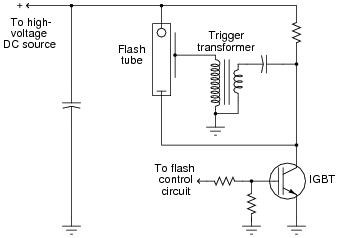 insulated gate bipolar transistors discrete semiconductor examine the schematic diagram for this photographic strobe light control system