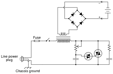 thyristor application circuits | discrete semiconductor devices, Wiring circuit