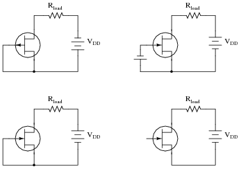 Junction field effect transistors jfet discrete semiconductor identify each type of jfet whether it is n channel or p channel label the terminals and determine whether the jfet in each of these circuits will be ccuart Choice Image