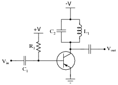 class c bjt amplifiers discrete semiconductor devices and circuits rh allaboutcircuits com circuit diagram rf amplifier FM Broadcast RF Amplifiers