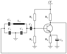 oscillator circuits discrete semiconductor devices and circuits rh allaboutcircuits com clapp oscillator circuit diagram transistor oscillator circuit diagram
