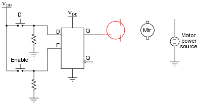 latch circuits digital circuits worksheets Relay Switch Diagram also, comment on whether your mosfet sources current to the motor or sinks current from the motor