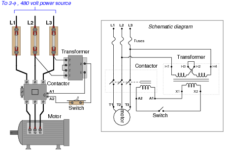 AC Motor Control Circuits – L1 L2 L3 Wire Diagram
