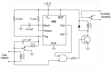 time delay electromechanical relays digital circuits worksheets rh allaboutcircuits com Timer Relay Circuit Schematic Timer Relay Circuit Schematic